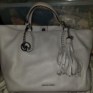 Michael Kors large grey bag and wallet